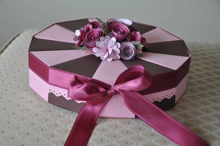 Подарочная коробка для торта своими руками 718